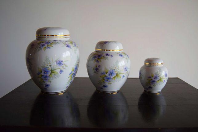 Conjunto de 3 potes - Porcelanas Encarnação