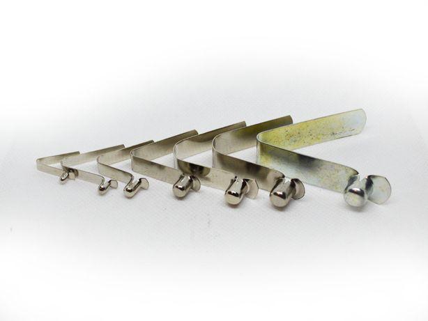 Пружинные фиксаторы с кнопкой для труб