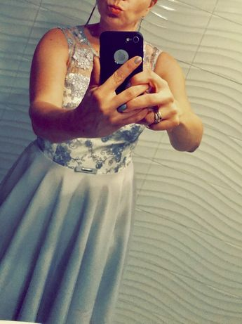 Sukienka wesele chrzciny komunia rozmiar 42