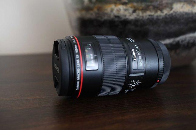 Canon EF 100mm F/2.8 L MACRO, JAK NOWY - użyty tylko raz!