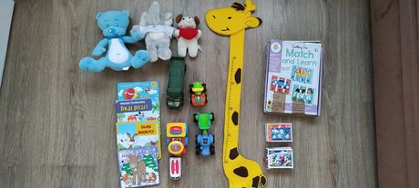 Zestaw zabawek dla chłopca Fischer Price, puzzle, traktor, książeczki,
