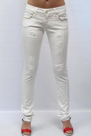 Pinko джинсы, размер 30 скинни (узкие/стретч), белые, оригинал, б/у