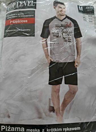 Piżama męska T-shirt + szorty nowa - okazja