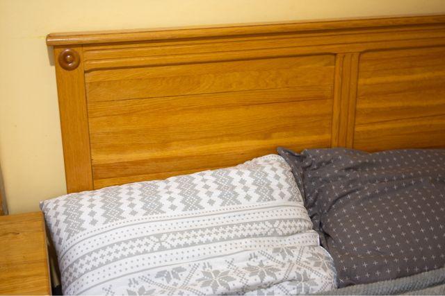 Dąb łóżko drewniane