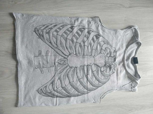 Koszulka szkielet żebra szara