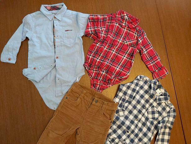 Ubranka dla chłopca r. 80