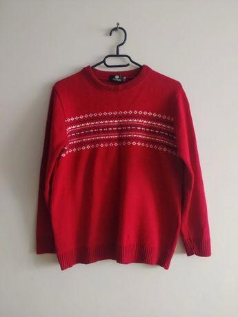 Sweterek czerwony ze wzorkami rozm. M