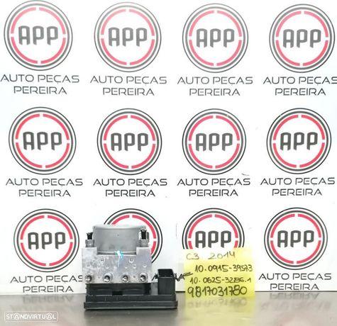 Módulo de abs PSA Citroen C3 2014 referência  9817031780, 10.0915 - 3957.3.