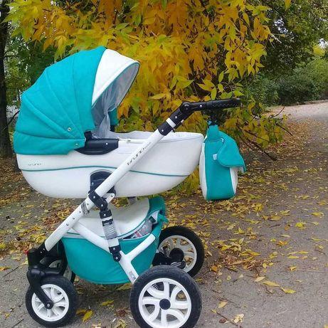 Продам детскую коляску Riko Brano Ecco 2 в 1 (бирюзовая)