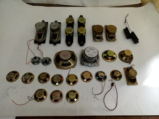 głośniki różne 26 sztuk