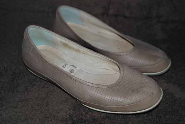 Buty półbuty ECCO baleriny skóra roz.38 dł.wkł.24,5 cm