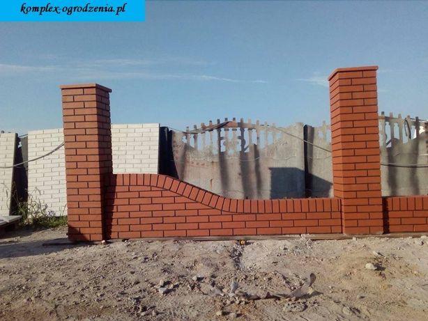 #1 ala klinkier podmurówka z jednym skosem, imitacja cegła ogrodzenie