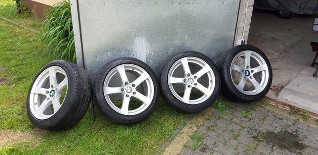 Felgi aluminiowe 17 z oponami Dezent BMW 5x120 super stan