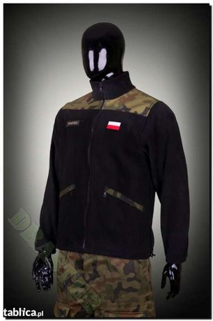 Polar wojskowy Czarny Podpinka pod GORE-TEX S,M,L,XL,XXL,XXXL 650gr