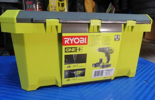 Wiertarko-wkrętarka Ryobi 18V - zestaw w skrzyni