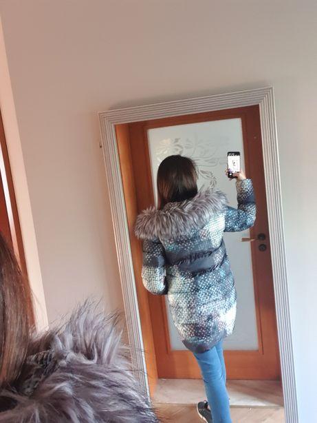 Piękna kurtka zimowa. Rozmiar M/L