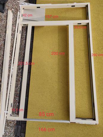 Drzwi aluminiowe 260x166 witryna z aluminium przeszklenie oranżeria
