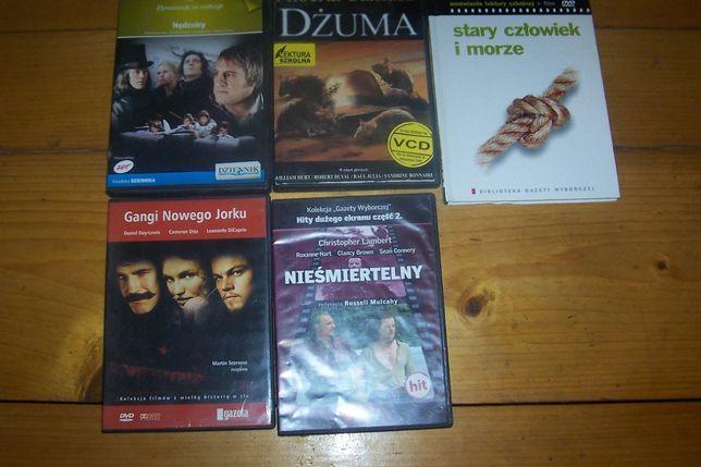 Nędznicy, Dżuma, Gangi NJ, Nieśmiertelny, Stary człowiek i morze DVD