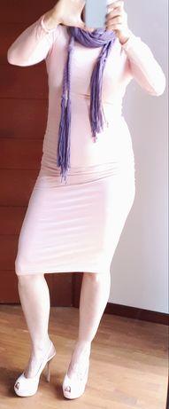 Zestaw cìąża- sukienka TkMaxx + bawełniana apaszka Mohito