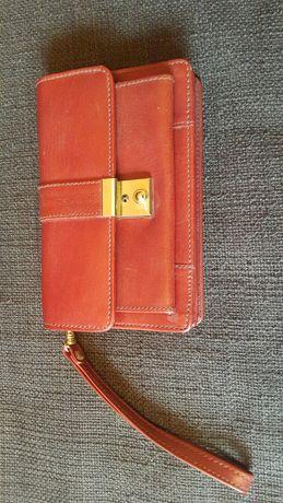 Portfel portmonetka na pasek, z zamkiem na kluczyk