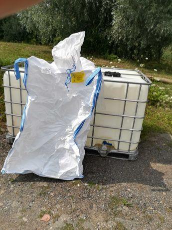 paletopojemnik mauzer 1000l na deszczowke paliwo szambo big bag