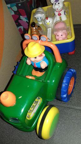 Nowy  Traktor Farmer z przyczepą