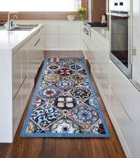 Passadeira de Cozinha Azulejo Antiderrapante - 55x190cm