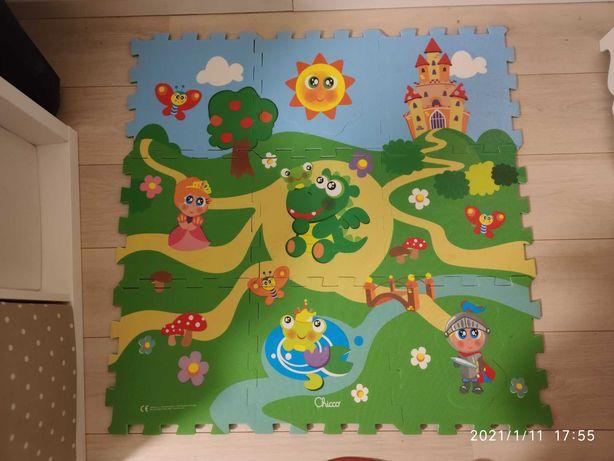 Mata piankowa/puzzle podłogowe rycerz,zamek,smok,księżniczka chicco