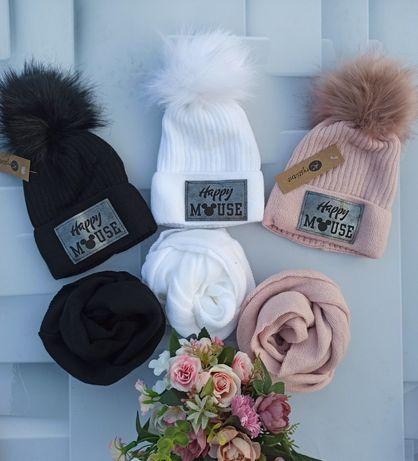 Komplet zimowy czapka i komin duży wybór kolorów