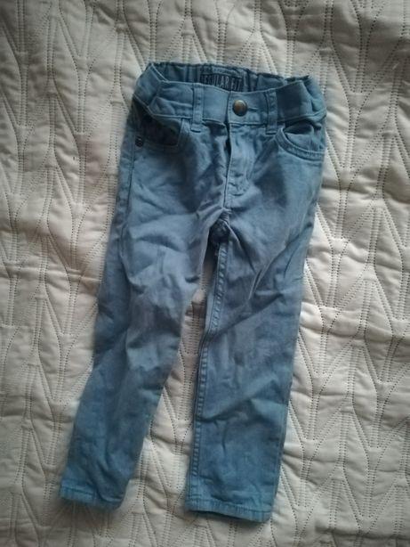 Spodnie chinosy 92 niebieskie hm