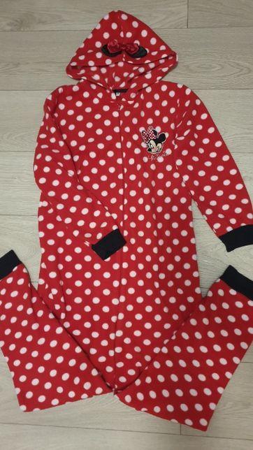 Disney kombinezon Myszka Minnie r.36/38 S/M dres piżama polarkowy j. n