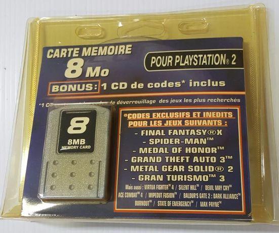 Cartão de memoria 8Mb PS2 com CD dicas Novo aceito trocas