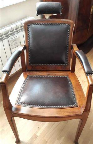 Antyk fotel fryzjerski 1900r