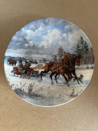Винтаж: коллекция настенных тарелок .