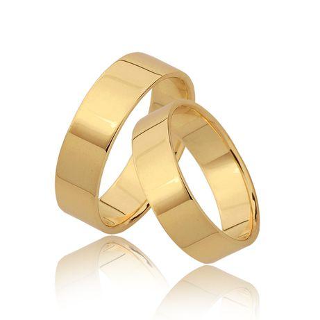 Złote Obrączki Ślubne - PARA pr. 585 5mm PŁASKIE