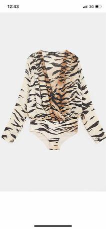 Body zara zwierzece print tygrys