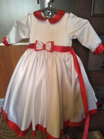 Платье атласное 1 год