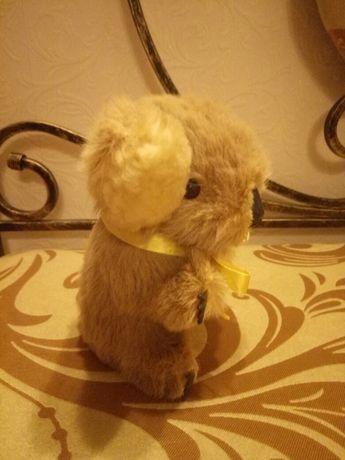 Винтажная игрушка из натурального меха, коала