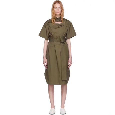 Zielona khaki sukienka model Bottega Veneta M/L/XL