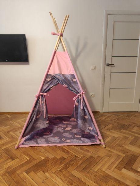 Ціна за комплект, Вігвам з килимком, дитячий будиночок, дитяча палатка