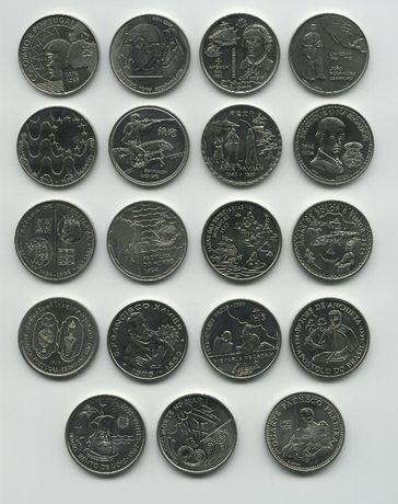 19 Moedas Comemorativas de 200 Escudos