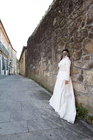 Vendo casaco comprido noiva