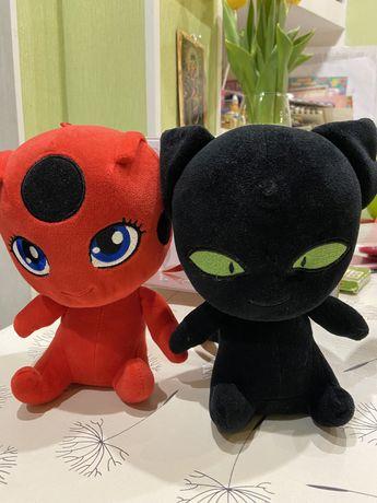 Мягкая игрушка Тикки и Плаг (квоми супер-героев Леди Баг и супер Кот)