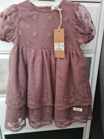 Sukienka 86 tiulowa dl 49cm newbie nowa