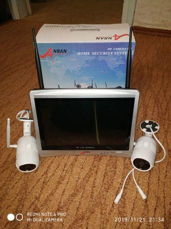 """Комплект WiFi видеонаблюдения Anran 2сh + 12"""" LCD AR-B360 Белый"""