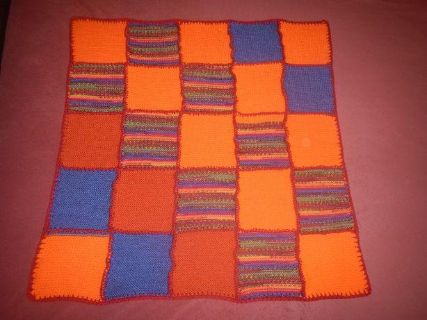 детский плед, покрывало одеяло ручной вязки р.75см х 75см