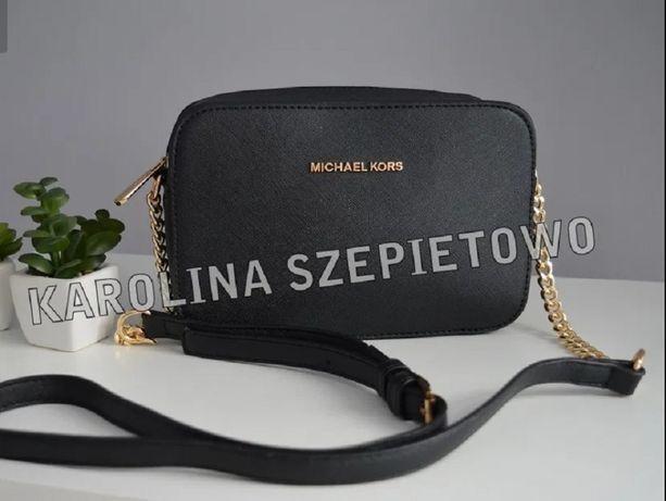 Czarna torebka JET SET MINI na łańcuszku MICHAEL KORS