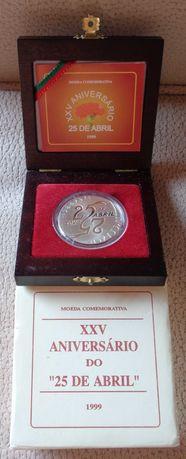 Moeda mil escudos prata proof 25 anos/25 abril