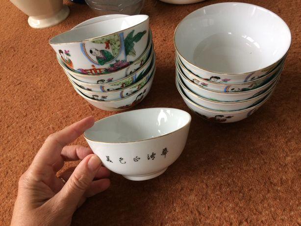 Miseczka chinska porcelanowa z Chin wzor i napisy chinskie