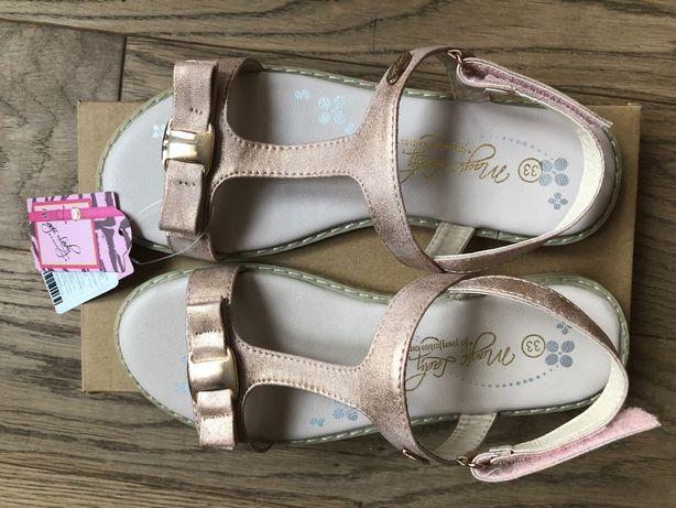 Nowe Sandały dziewczęce 33